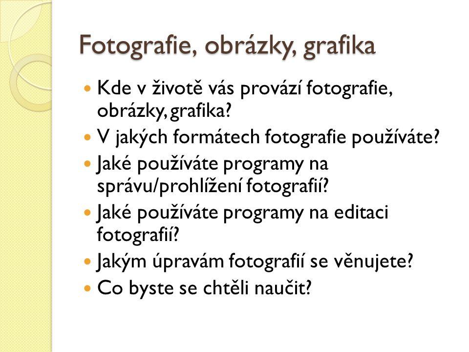 Fotografie, obrázky, grafika Kde v životě vás provází fotografie, obrázky, grafika.