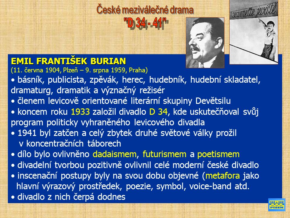 EMIL FRANTIŠEK BURIAN (11. června 1904, Plzeň – 9.