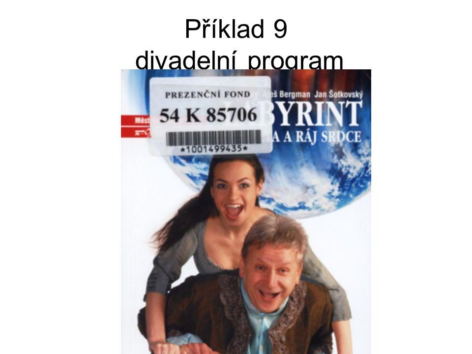 Příklad 9 divadelní program