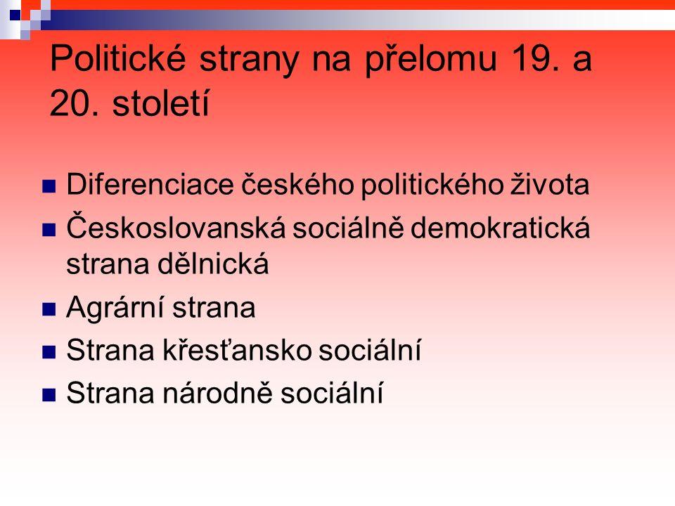 Politické strany na přelomu 19. a 20.
