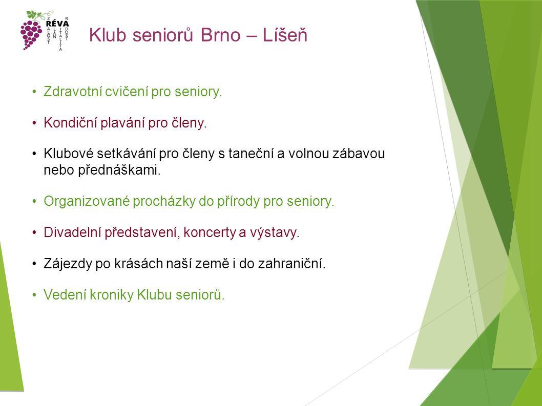 Klub seniorů Brno – Líšeň Zdravotní cvičení pro seniory.