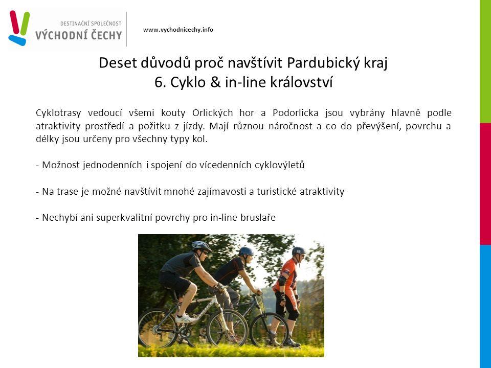 www.vychodnicechy.info Cyklotrasy vedoucí všemi kouty Orlických hor a Podorlicka jsou vybrány hlavně podle atraktivity prostředí a požitku z jízdy.