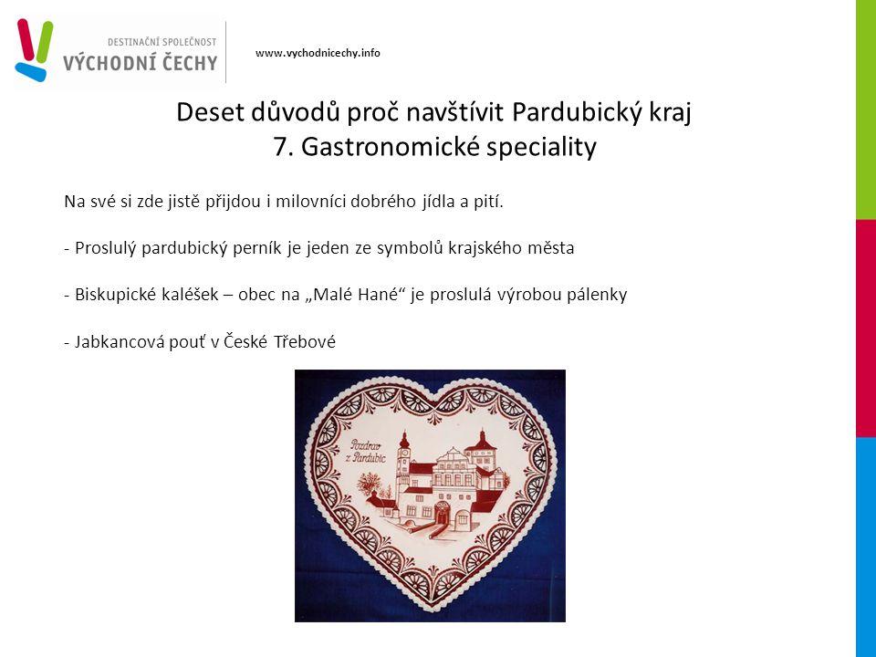 www.vychodnicechy.info Na své si zde jistě přijdou i milovníci dobrého jídla a pití.