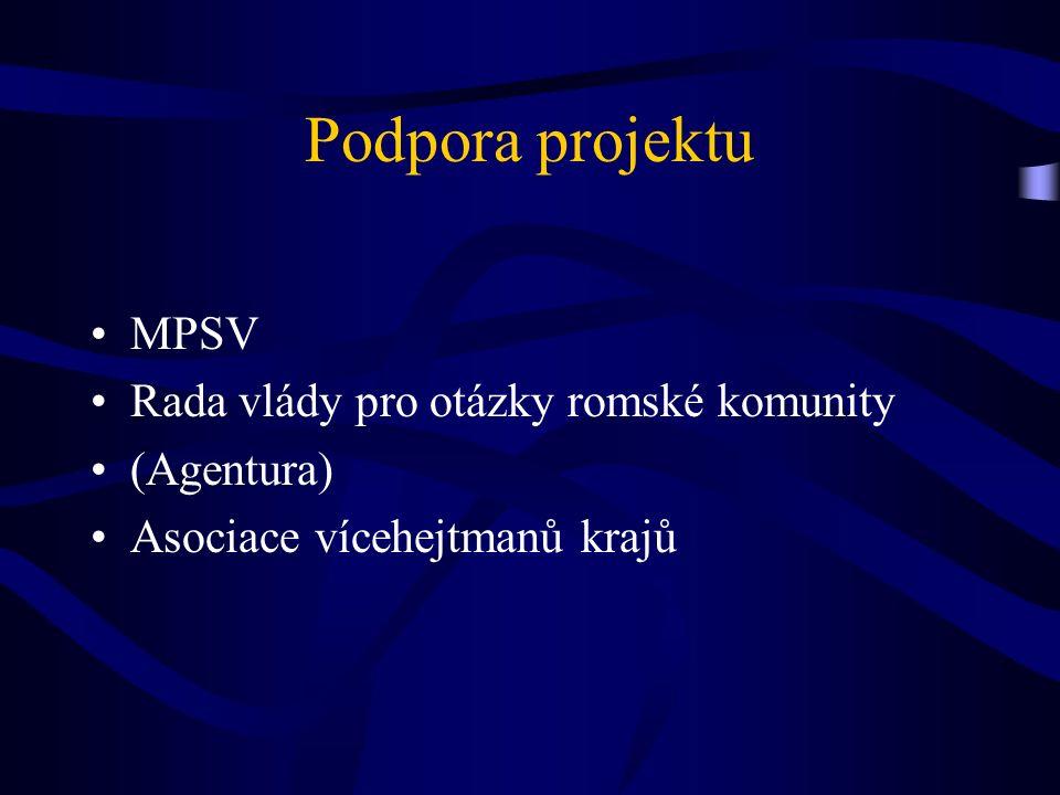 Podpora projektu MPSV Rada vlády pro otázky romské komunity (Agentura) Asociace vícehejtmanů krajů