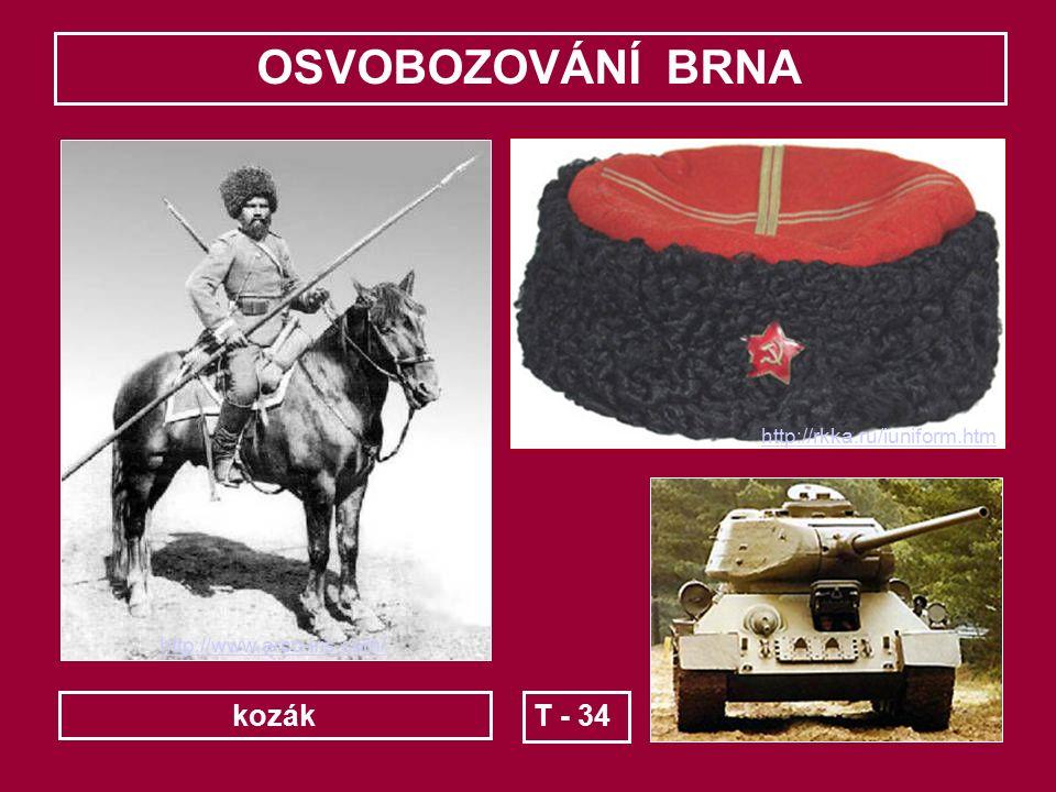 OSVOBOZOVÁNÍ BRNA Podle plánu ruského velení měla útok na SZ Brna zahájit 1. gardová jezdecko-mechanizovaná skupina pod velením generálporučíka I.A. P