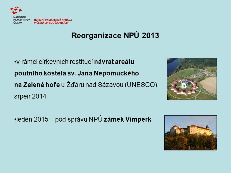 Reorganizace NPÚ 2013 v rámci církevních restitucí návrat areálu poutního kostela sv. Jana Nepomuckého na Zelené hoře u Žďáru nad Sázavou (UNESCO) srp