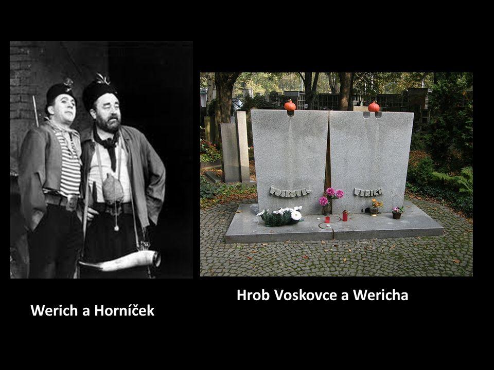 Werich a Horníček Hrob Voskovce a Wericha