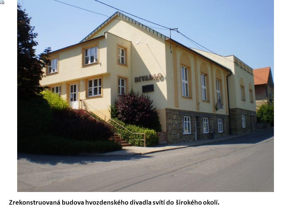 Historie divadla Roku 1909 bylo ve Hvozdné u Zlína založeno ochotnické divadlo.