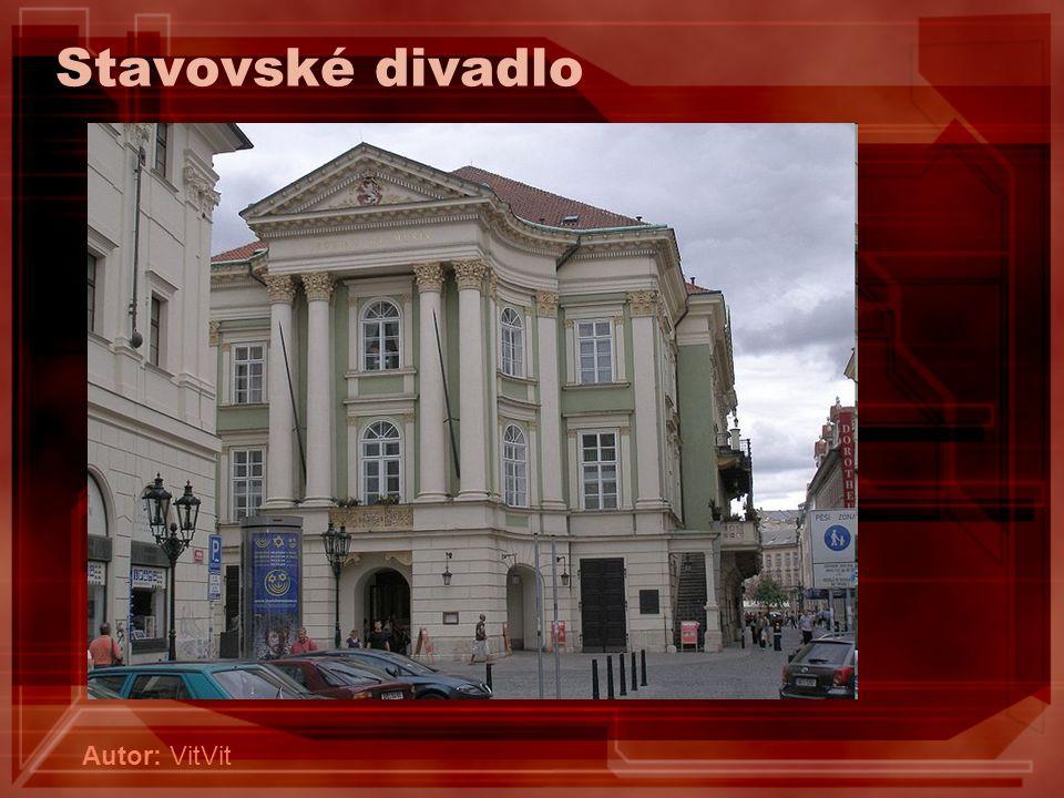 Stavovské divadlo Autor: VitVit