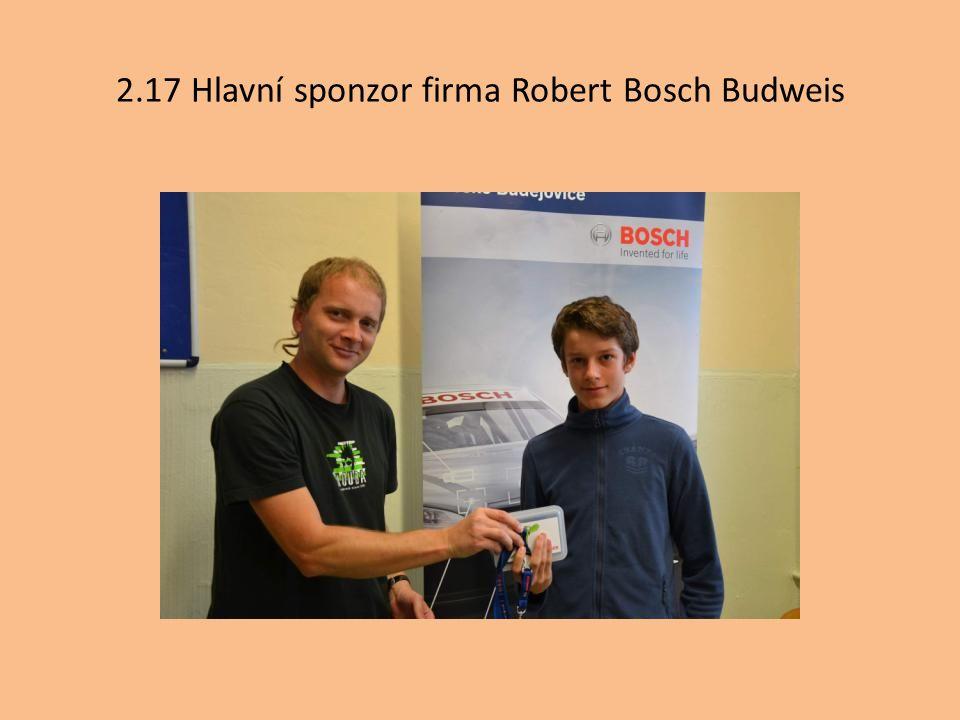 2.17 Hlavní sponzor firma Robert Bosch Budweis