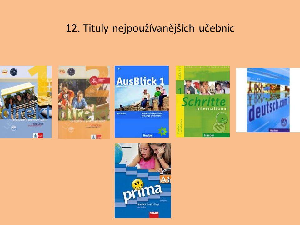 12. Tituly nejpoužívanějších učebnic