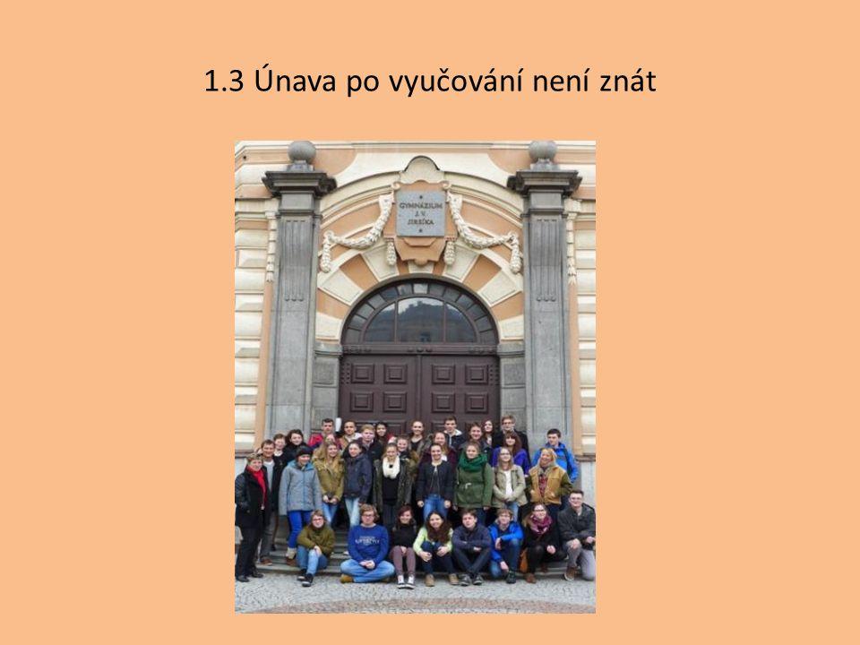 1.3 Únava po vyučování není znát