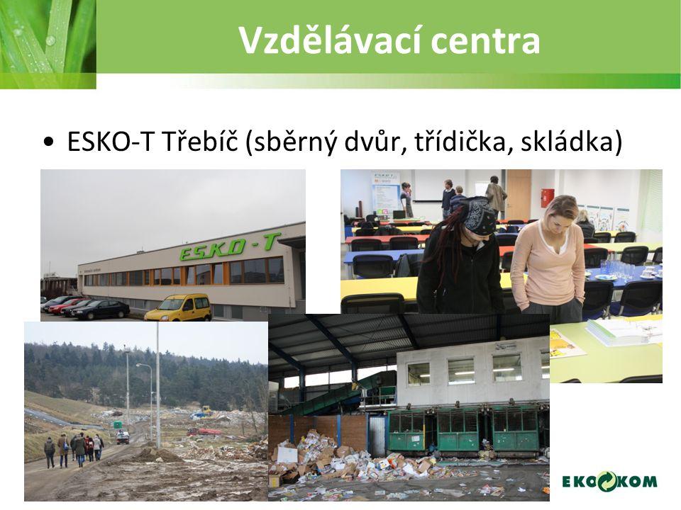 Vzdělávací centra ESKO-T Třebíč (sběrný dvůr, třídička, skládka)
