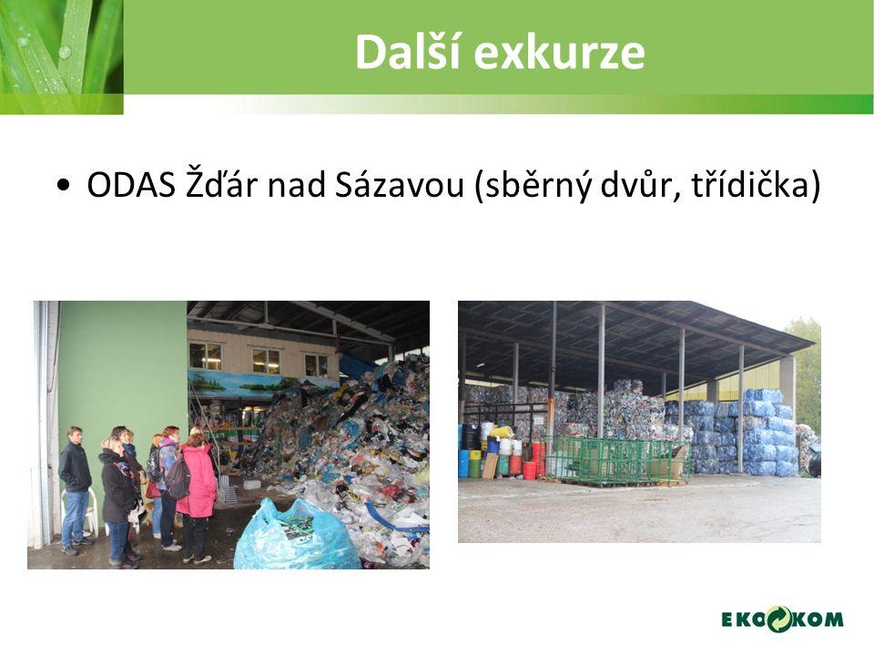 Další exkurze ODAS Žďár nad Sázavou (sběrný dvůr, třídička)