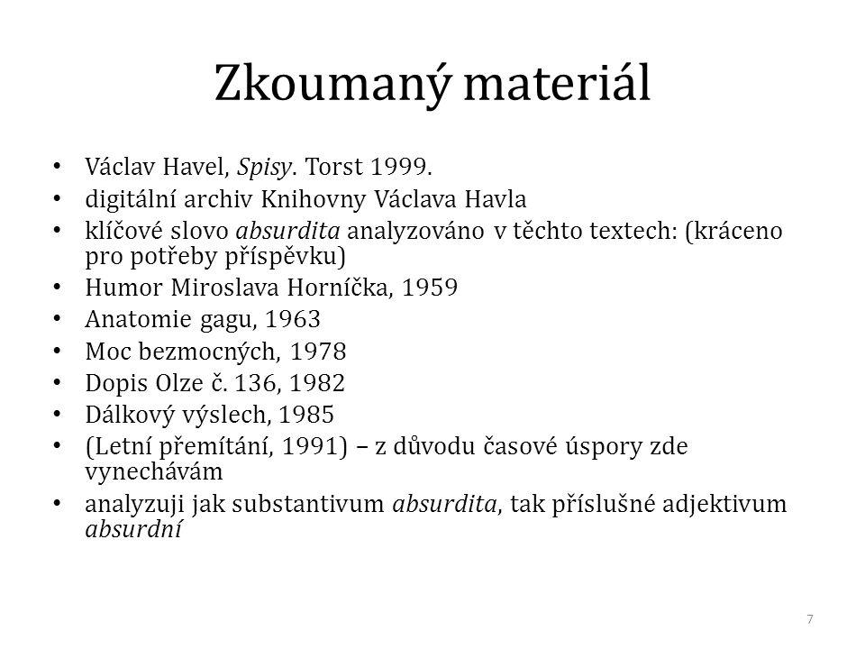 Humor Miroslava Horníčka (1959, citováno z archivu KVH) V čem je princip tohoto intelektuálního humoru.