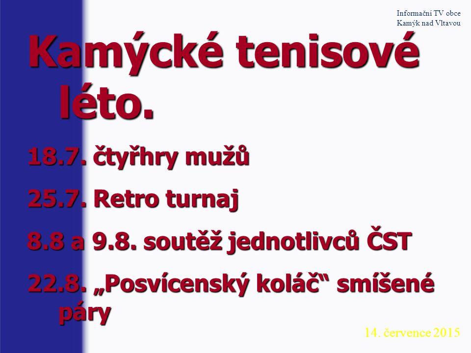 Informační TV obce Kamýk nad Vltavou Divadelní spolek KADIS hledá sympatické ochotníky veškerého věku i pohlaví, kteří by rozšířili řady hereckých nadšenců.