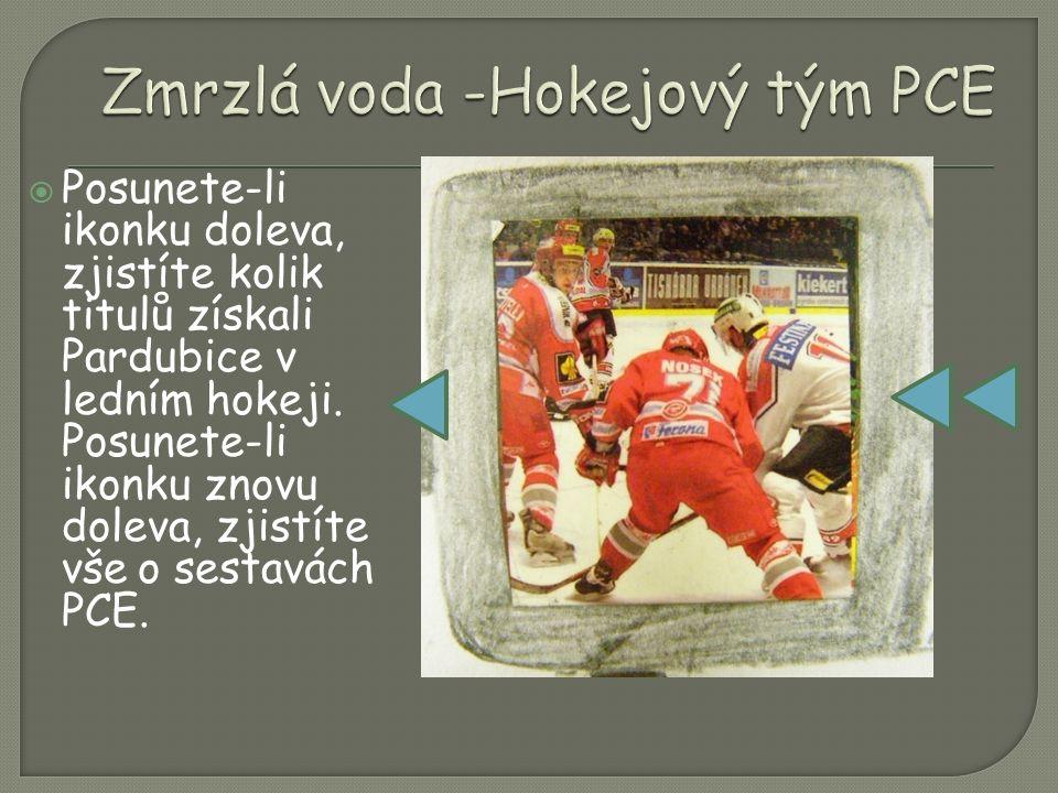  Posunete-li ikonku doleva, zjistíte kolik titulů získali Pardubice v ledním hokeji.