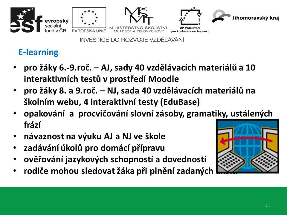 E-learning 11 pro žáky 6.-9.roč.