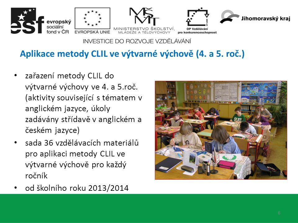 6 Aplikace metody CLIL ve výtvarné výchově (4. a 5.