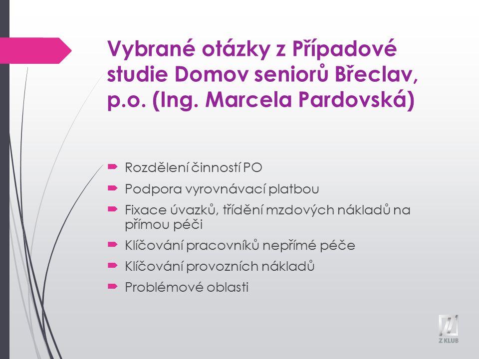 Vybrané otázky z Případové studie Domov seniorů Břeclav, p.o.