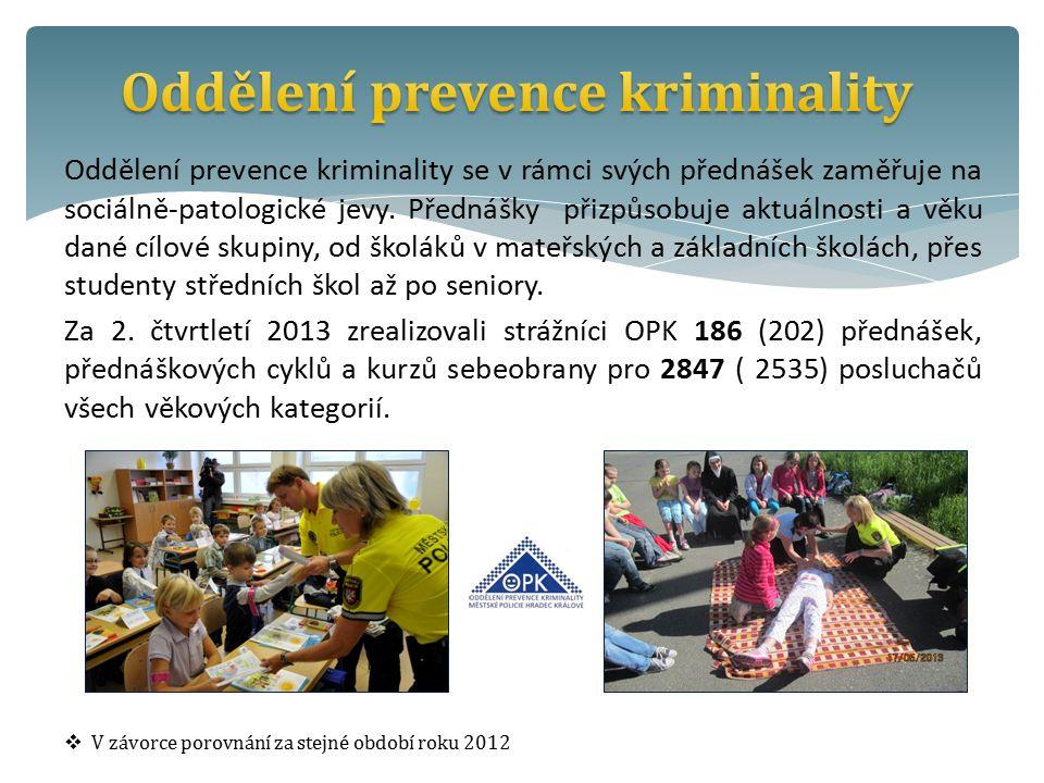 Oddělení prevence kriminality se v rámci svých přednášek zaměřuje na sociálně-patologické jevy.