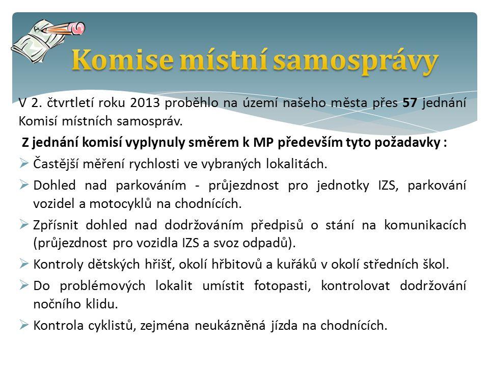 V 2. čtvrtletí roku 2013 proběhlo na území našeho města přes 57 jednání Komisí místních samospráv.