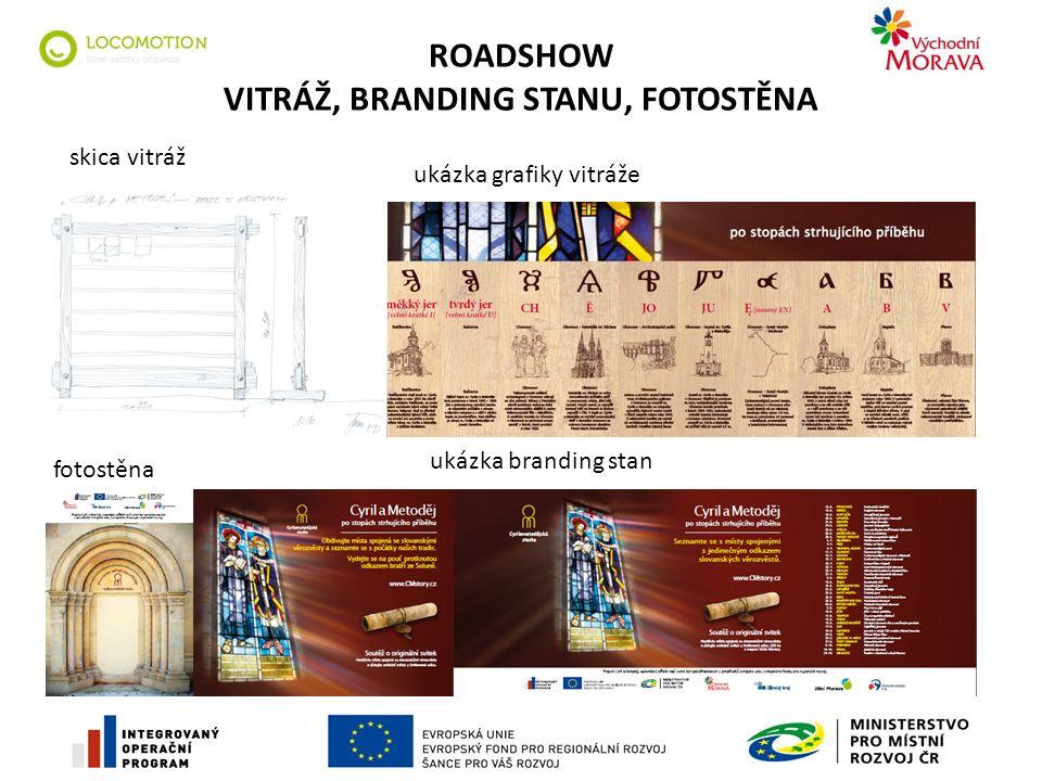ROADSHOW VITRÁŽ, BRANDING STANU, FOTOSTĚNA ukázka grafiky vitráže skica vitráž ukázka branding stan fotostěna