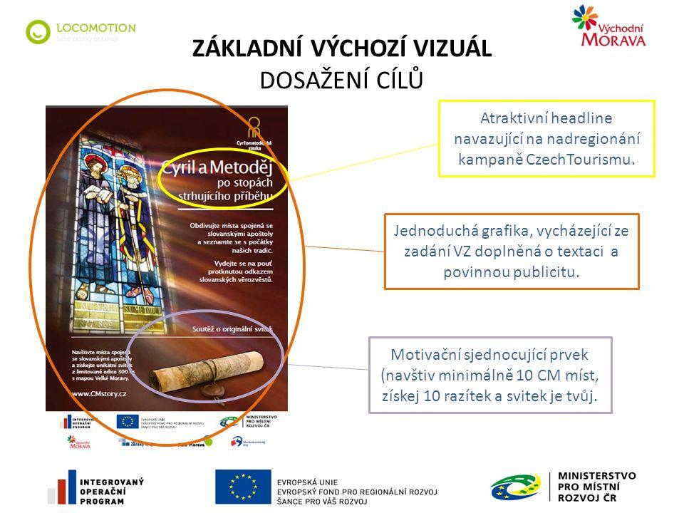 ZÁKLADNÍ VÝCHOZÍ VIZUÁL DOSAŽENÍ CÍLŮ Atraktivní headline navazující na nadregionání kampaně CzechTourismu.