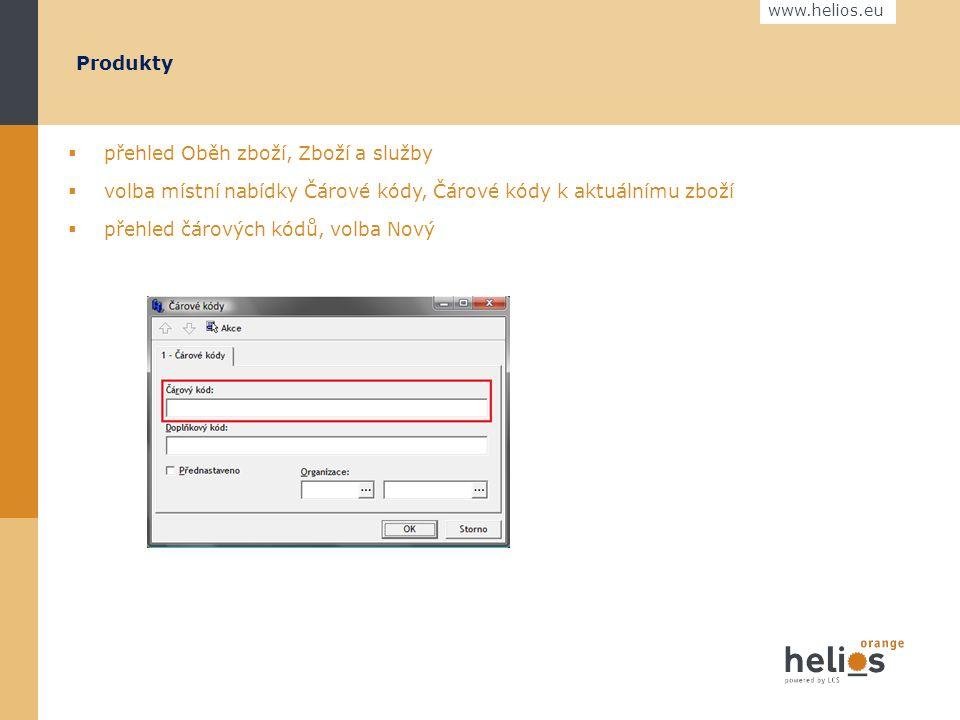 www.helios.eu  přehled Číselníky, Organizace  volba místní nabídky Oprava Organizace