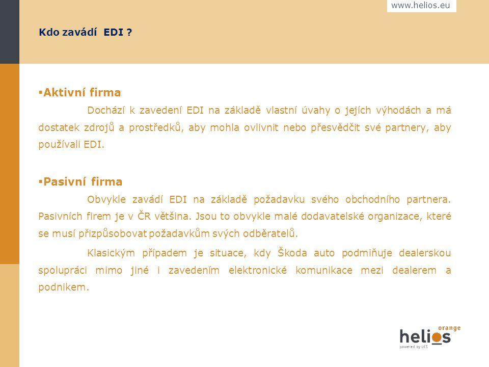 www.helios.eu Schéma EDI komunikace