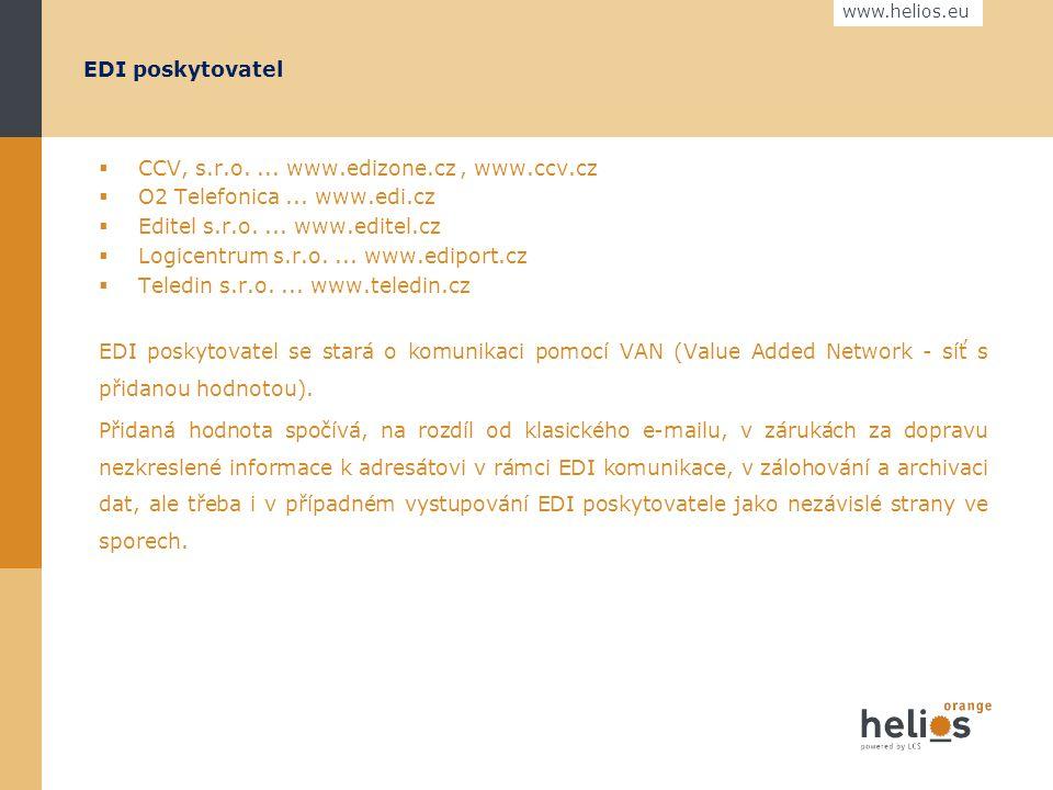 """www.helios.eu Odběratel / Dodavatel Ukázka firmy AHOLD, www.ahold.cz, odkaz Dodavatelé, EDI komunikace """" Co udělat pro to, abyste mohli plně využívat EDI komunikace s Aholdem."""