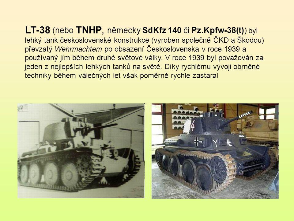 LT vz.35 byl československý lehký tank vyvinutý firmou Škoda v polovině třicátých let 20.