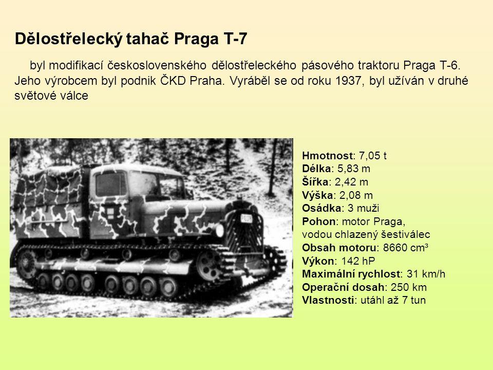 Dělostřelecký tahač Praga T-6 byl nejúspěšnější československý dělostřelecký pásový traktor.