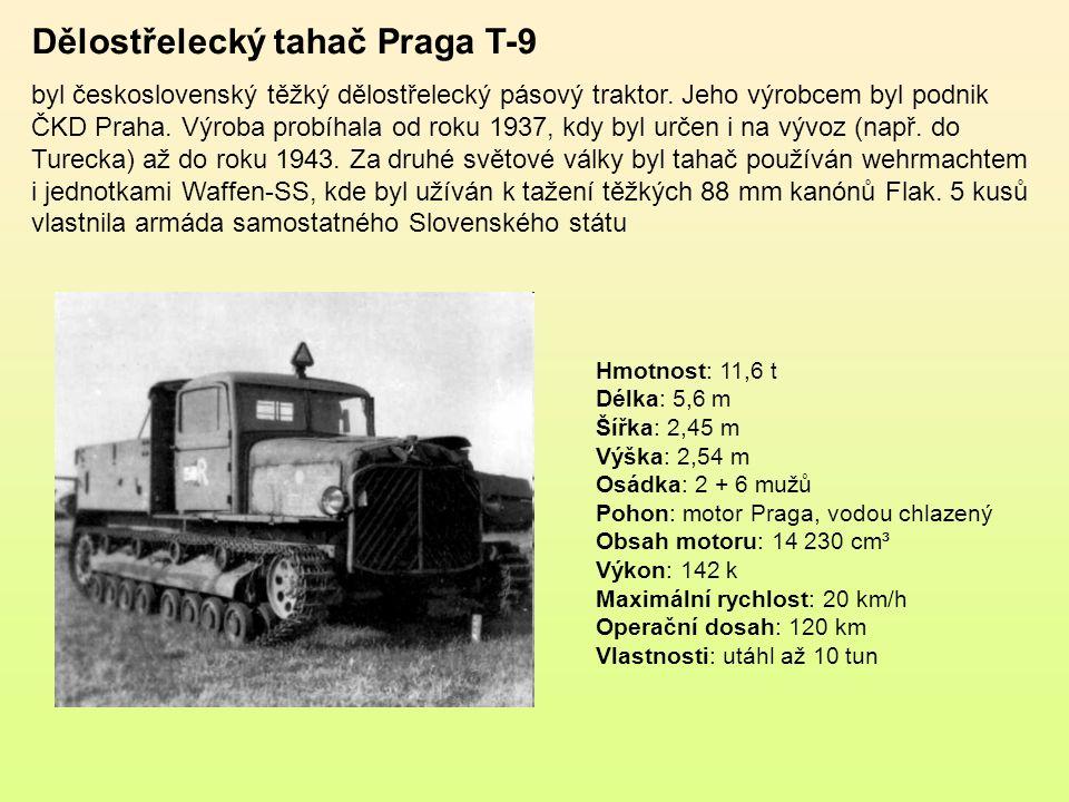Dělostřelecký tahač Praga T-7 byl modifikací československého dělostřeleckého pásového traktoru Praga T-6.