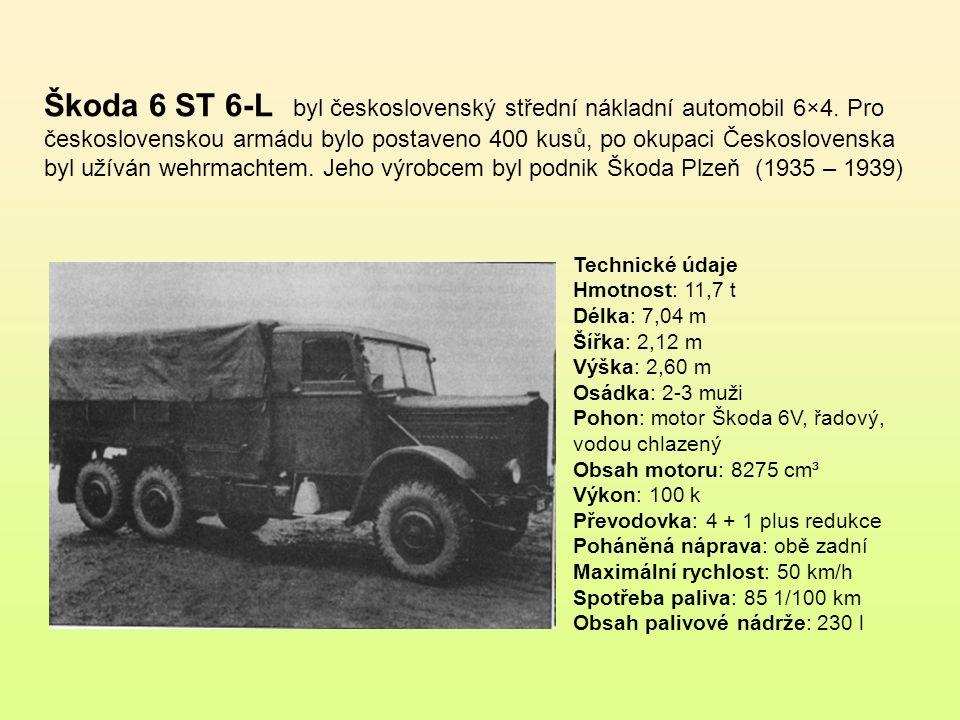 Škoda L byl československý 6x4 lehký nákladní automobil.