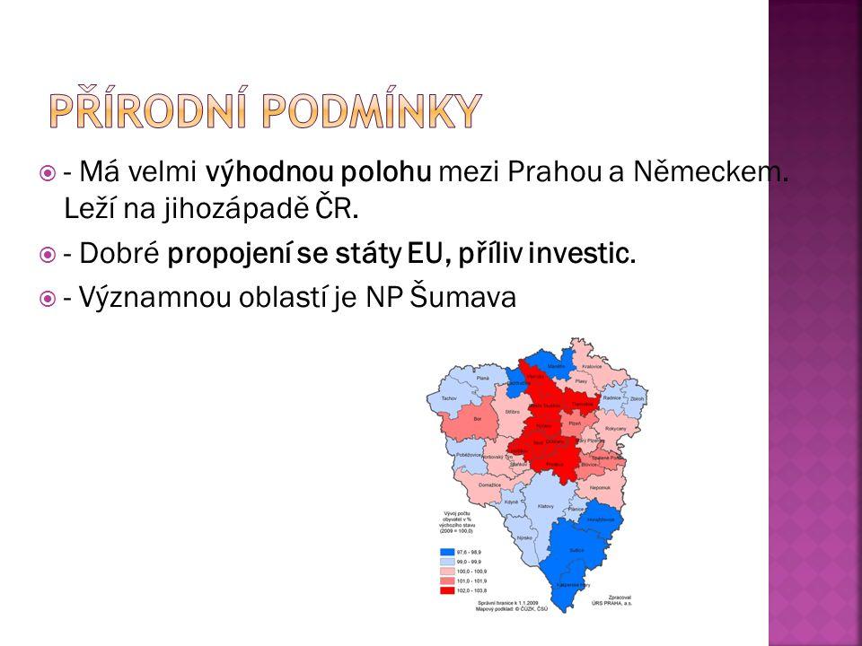 - Má velmi výhodnou polohu mezi Prahou a Německem.