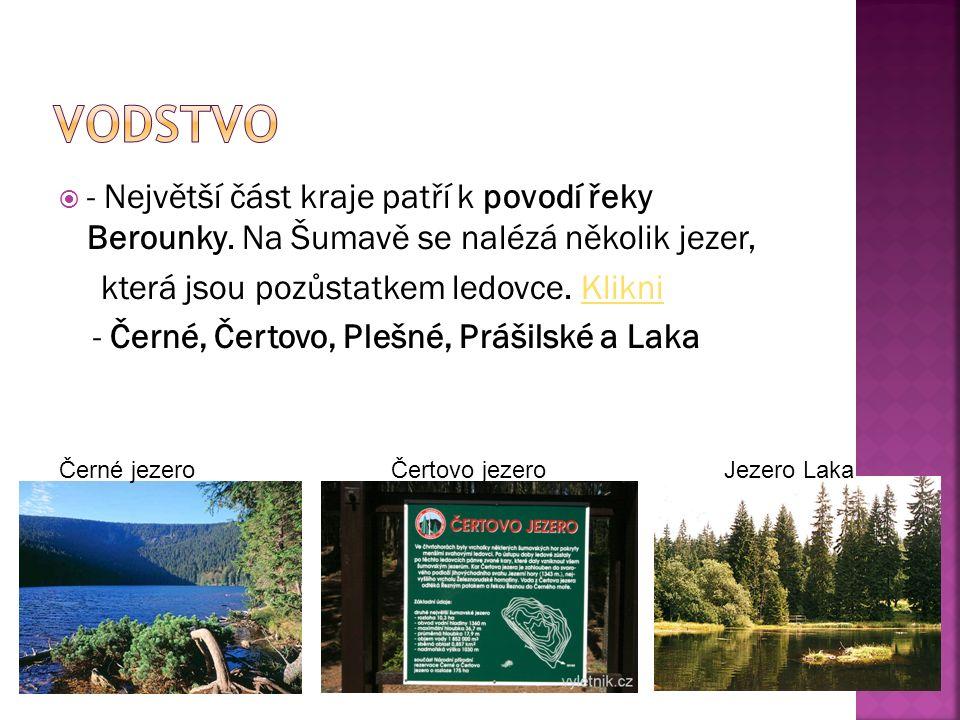  - Největší část kraje patří k povodí řeky Berounky.