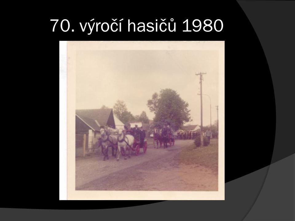 r. 1980 - 70. výročí hasičů Jedlany
