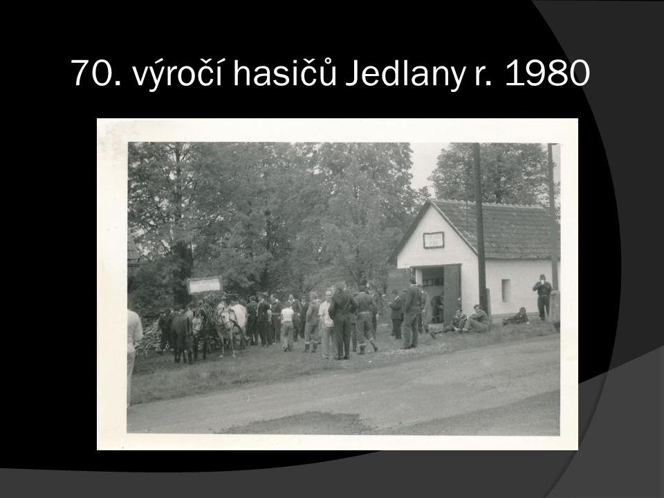 70. výročí hasičů Jedlany r. 1980