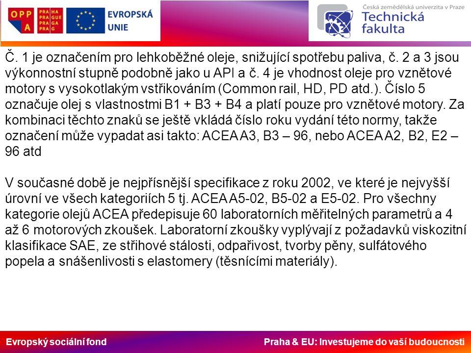 Evropský sociální fond Praha & EU: Investujeme do vaší budoucnosti Č.