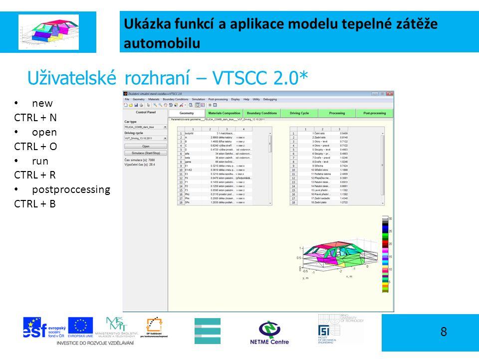 Ukázka funkcí a aplikace modelu tepelné zátěže automobilu 19 Program workshopu 09:00 - 09:30 - Úvodní přednáška: Prostředí v kabinách automobilů - možnosti jeho predikce a měření (J.
