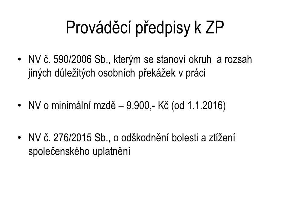 Prováděcí předpisy k ZP NV č.