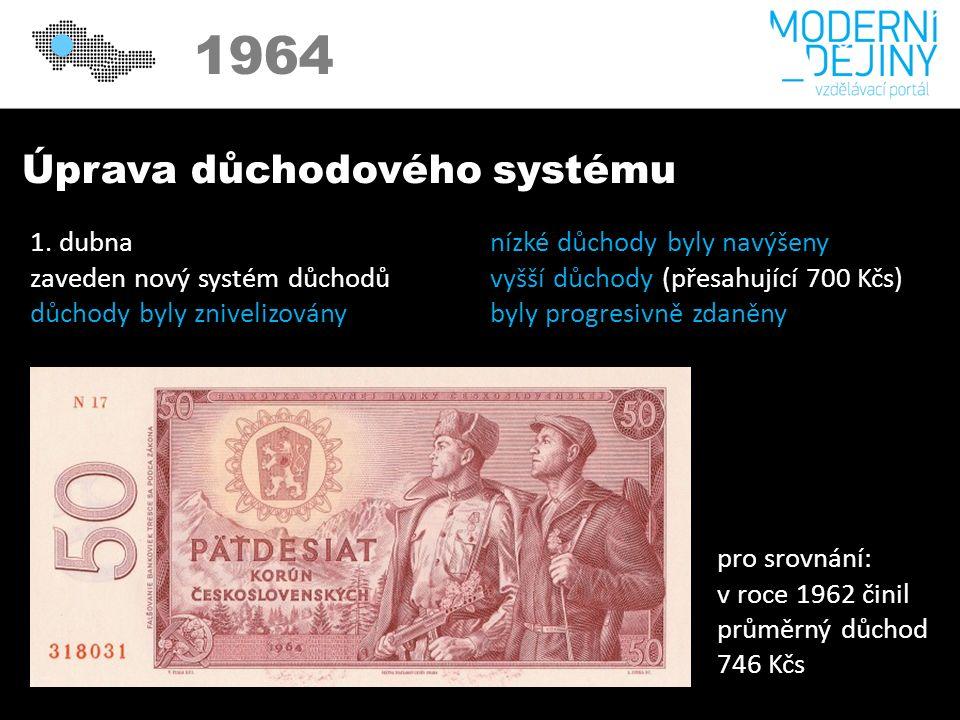 1950 1964 Úprava důchodového systému 1.