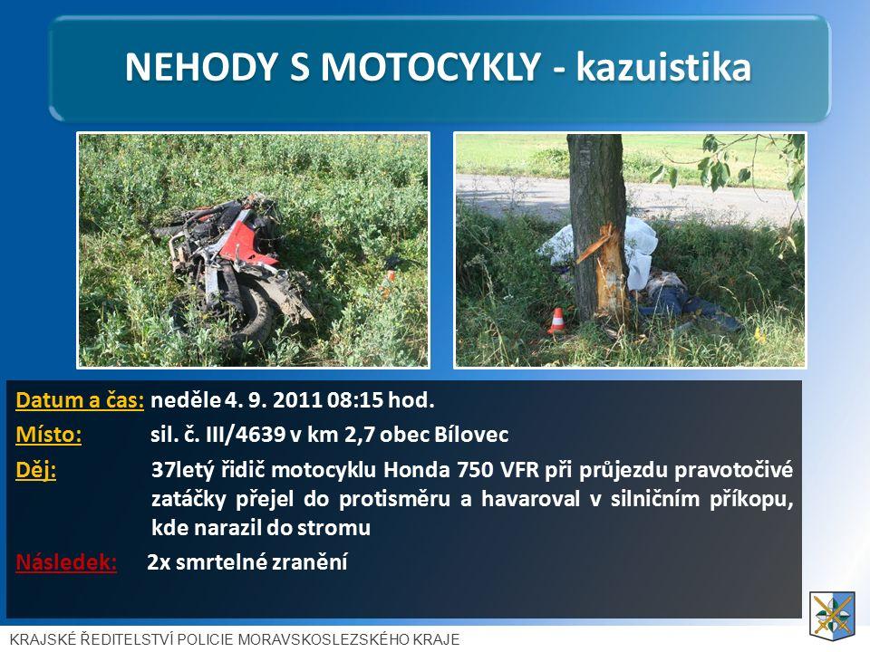 NEHODY S MOTOCYKLY - kazuistika Datum a čas: neděle 4.