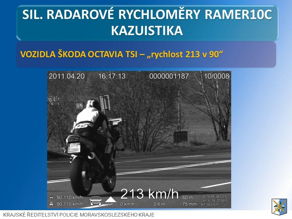 """VOZIDLA ŠKODA OCTAVIA TSI – """"rychlost 213 v 90 SIL."""