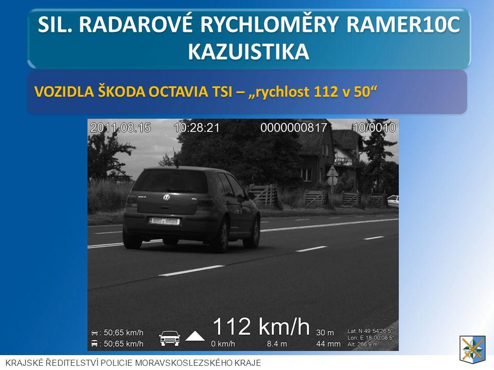 """VOZIDLA ŠKODA OCTAVIA TSI – """"rychlost 112 v 50 SIL."""