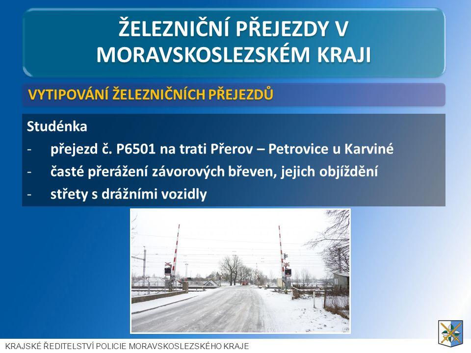 ŽELEZNIČNÍ PŘEJEZDY V MORAVSKOSLEZSKÉM KRAJI Studénka -přejezd č.