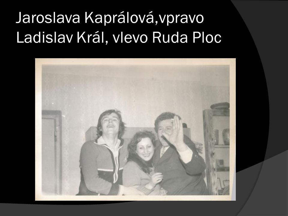 Jaroslava Kaprálová,vpravo Ladislav Král, vlevo Ruda Ploc