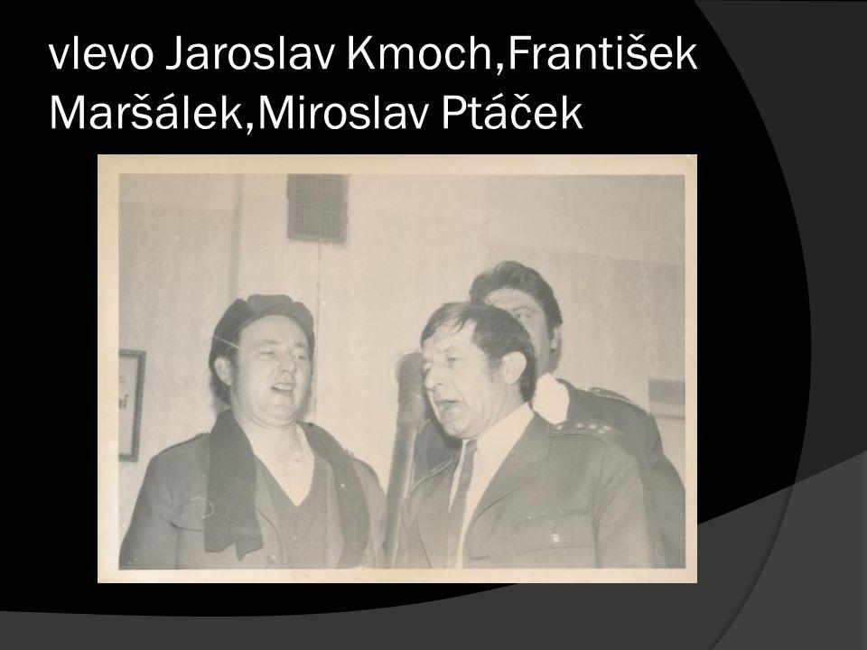 vlevo Jaroslav Kmoch,František Maršálek,Miroslav Ptáček
