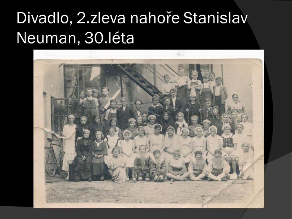 Divadlo, 2.zleva nahoře Stanislav Neuman, 30.léta
